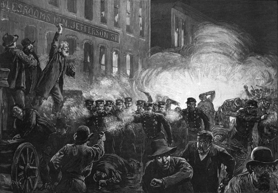 Haymarket Riot Drawing