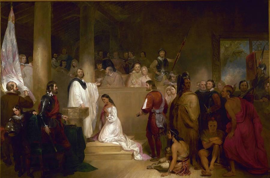 John Rolfe And Pocahontas Baptism