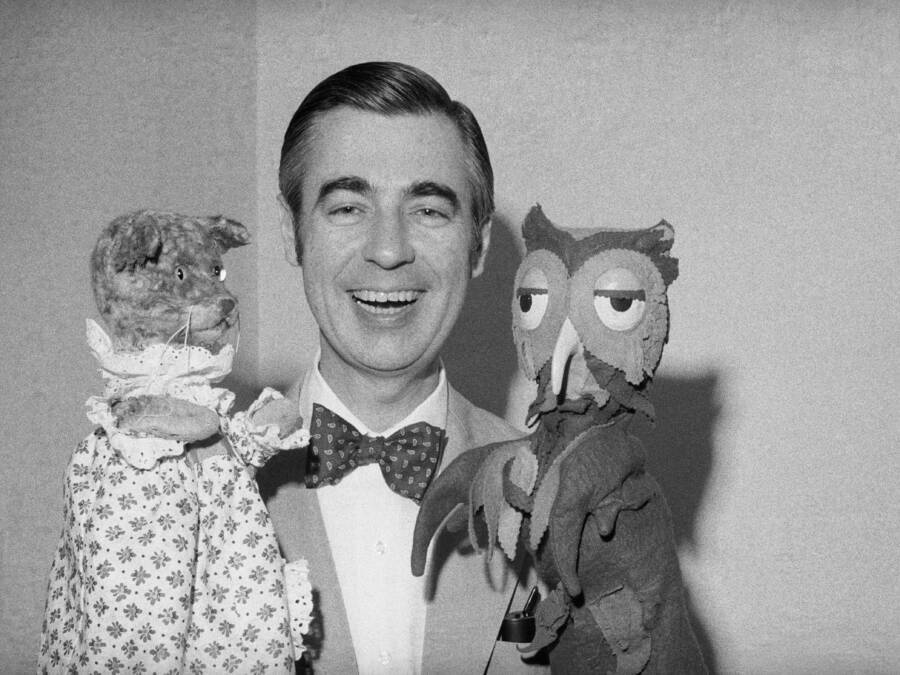 Mister Rogers With His Puppets