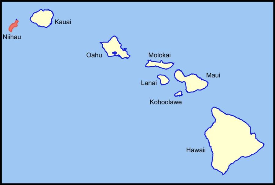 Niihau Island Map