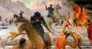 Painting Of Bear River Massacre