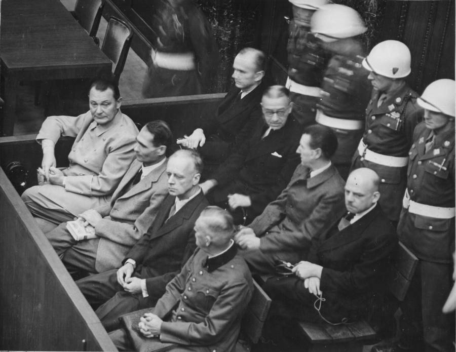 Hermann Goring During Nuremberg Trials