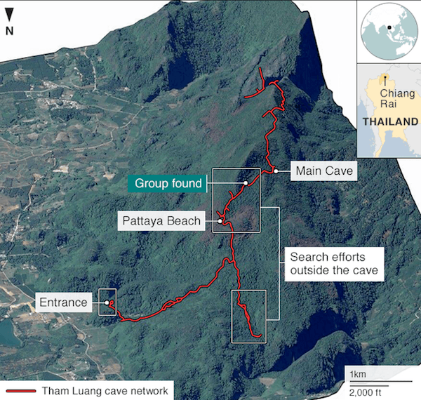 Thailand Cave Map