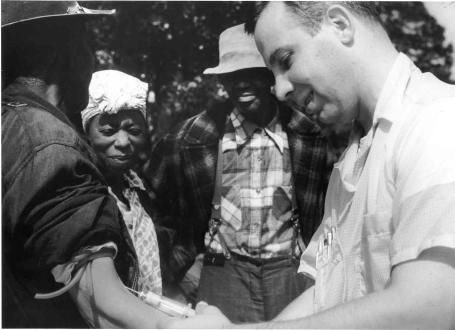 Tuskegee Experiment Doctor Drawing Blood