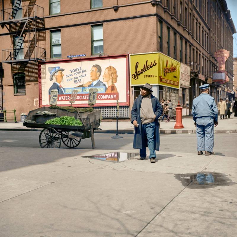 Vintage Harlem Street Scene