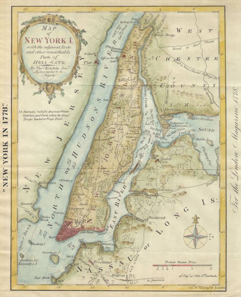 18th Century Map Of New York City