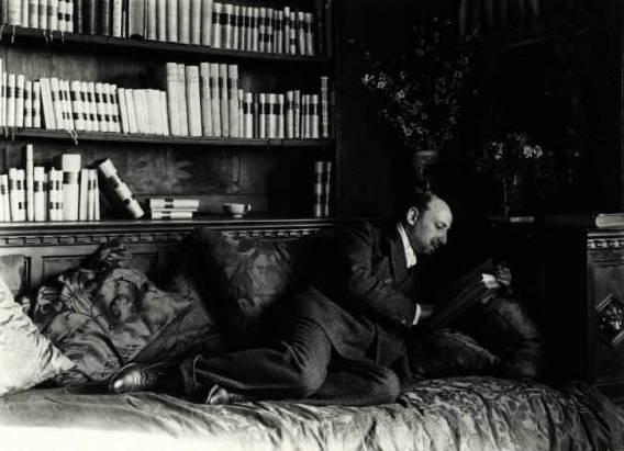 Gabriele D'Annunzio Relaxing