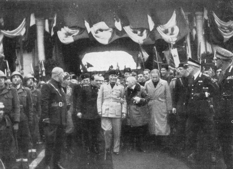 Gabriele D'Annunzio With Mussolini