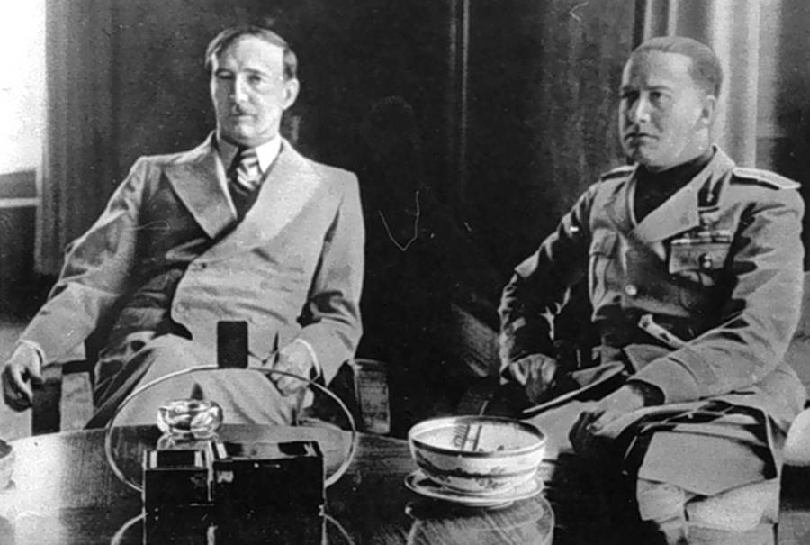 King Zog I And Italian Foreign Minister
