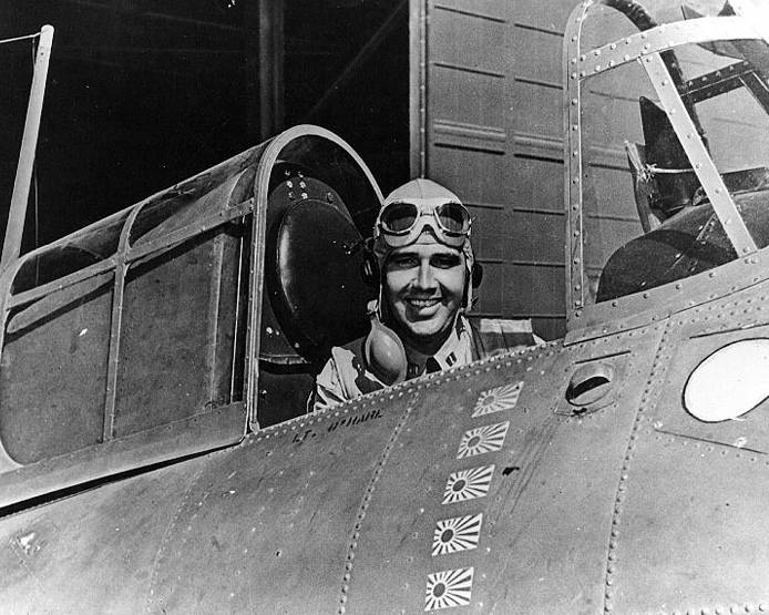 Butch O'Hare In Plane