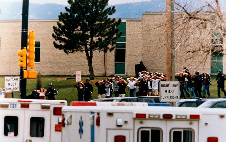Columbine Students Exit