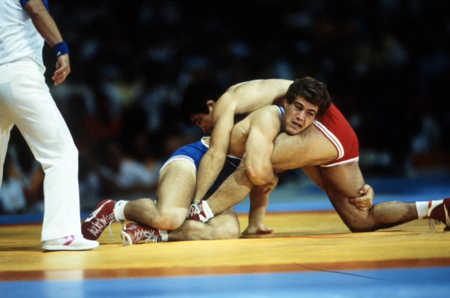 Mark Schultz Wrestling During Olympics
