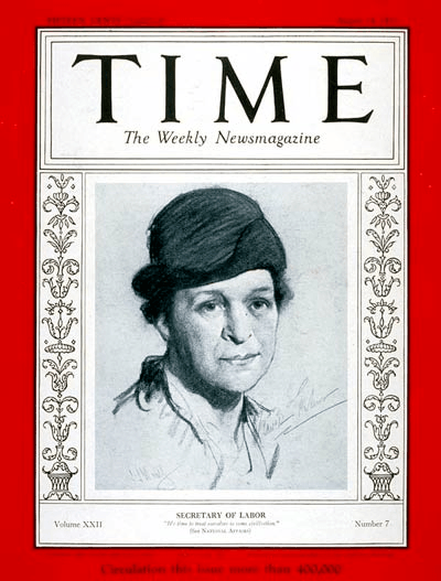 Frances Perkins Time Magazine