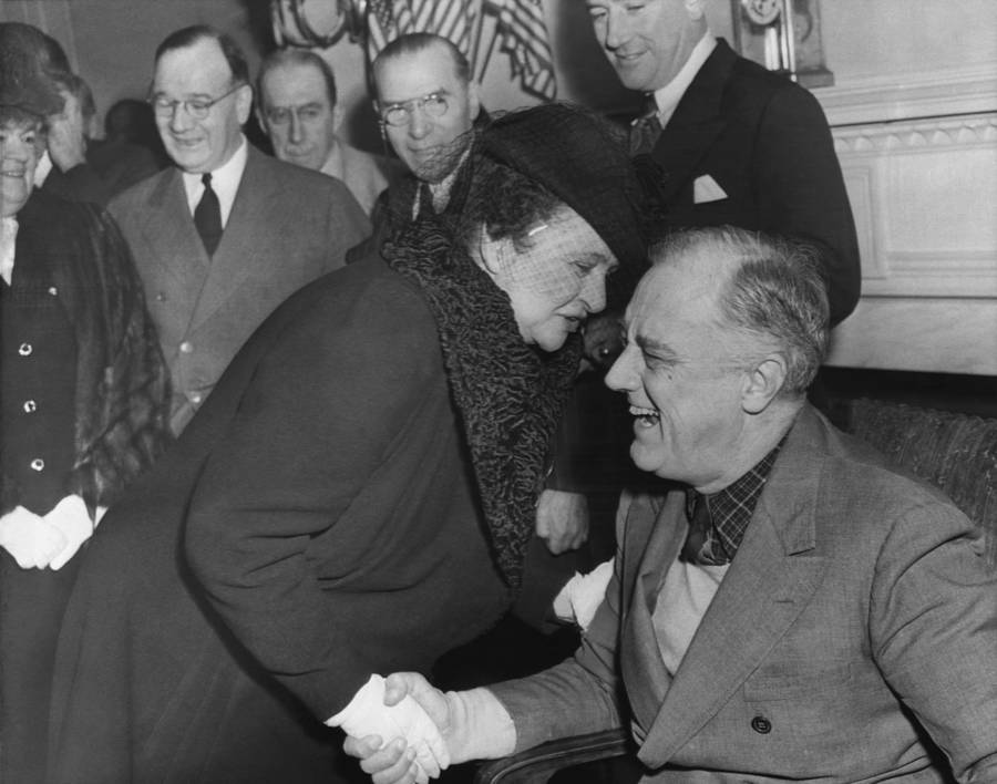 Frances Perkins With Fdr