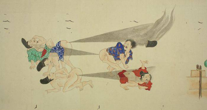 21 Classic Images Of Japanese Fart Battles From The 19th Century