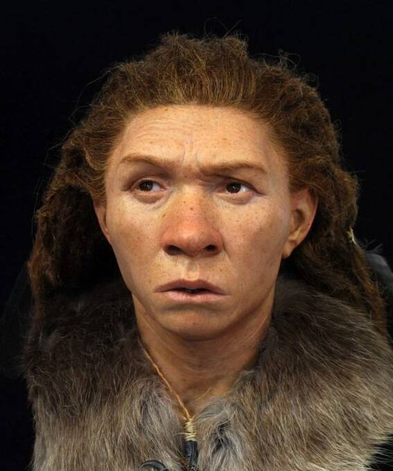 Reconstruction Of Prehistoric Woman
