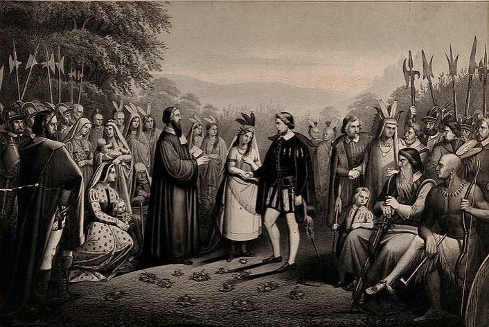 Wedding Of John Rolfe And Pocahontas