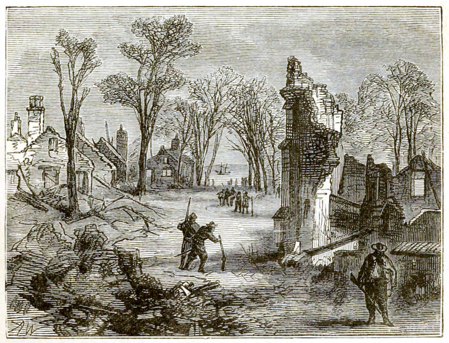 Ruins Of Jamestown During Bacon's Rebellion