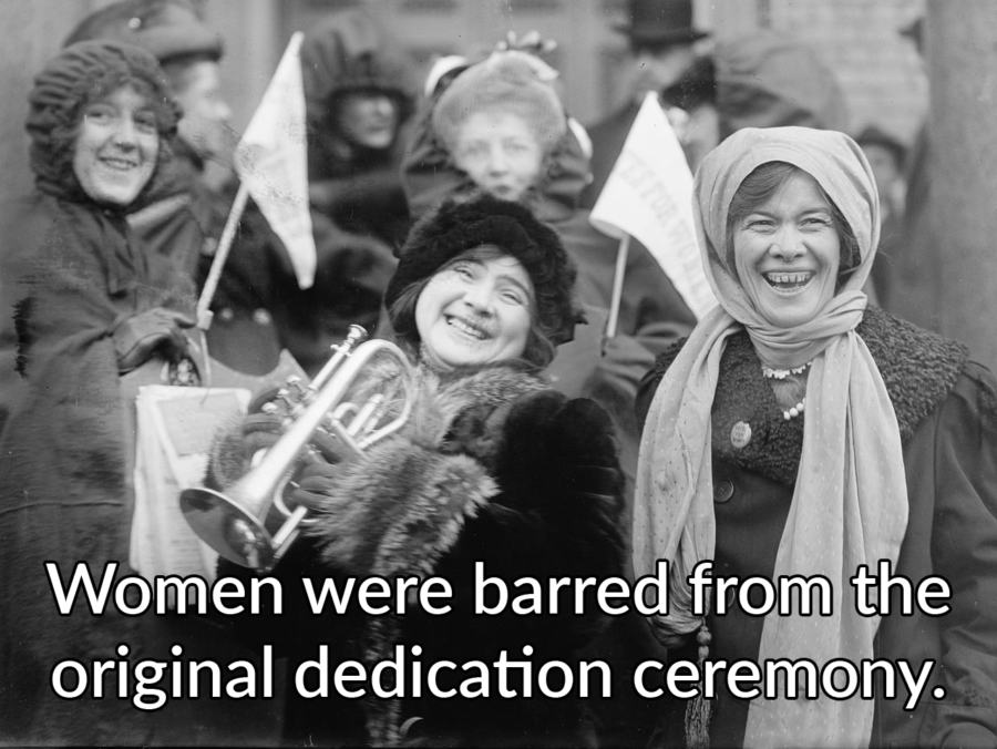 Suffragists Banned From Ceremony