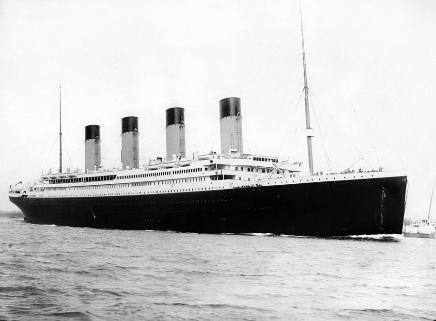 Titanic At Sea
