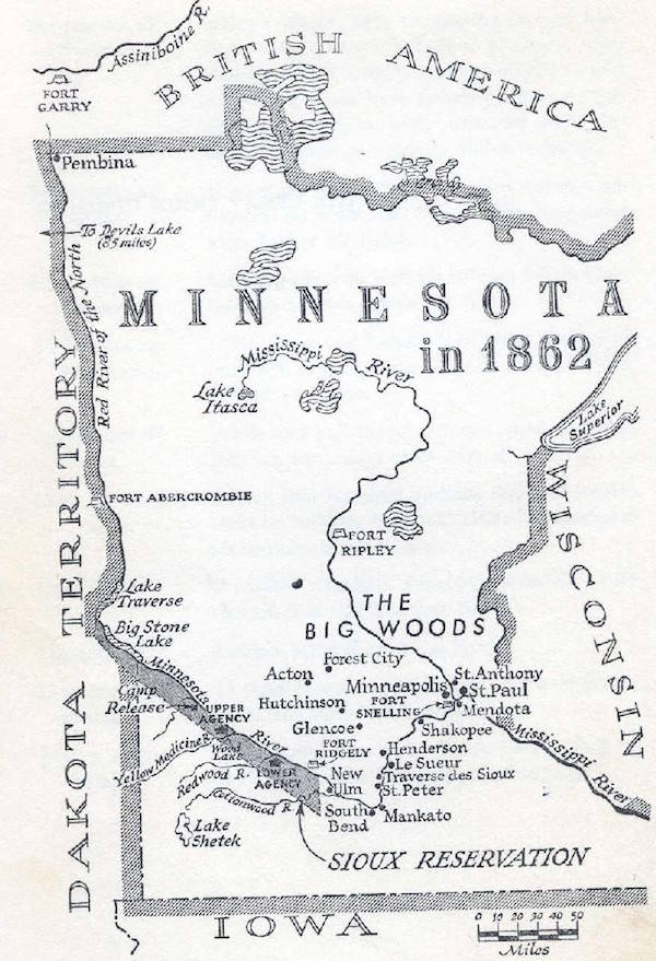 1862 Minnesota Map