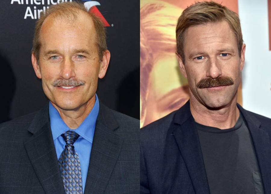 Jeff Skiles And Aaron Eckhart