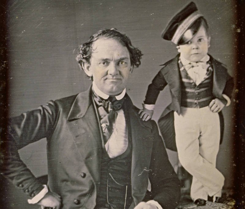 PT Barnum With Tom Thumb