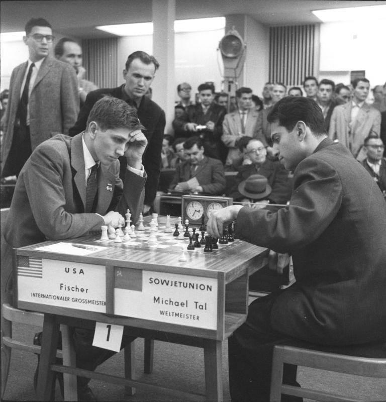 Bobby Fischer Against Mikhail Tal