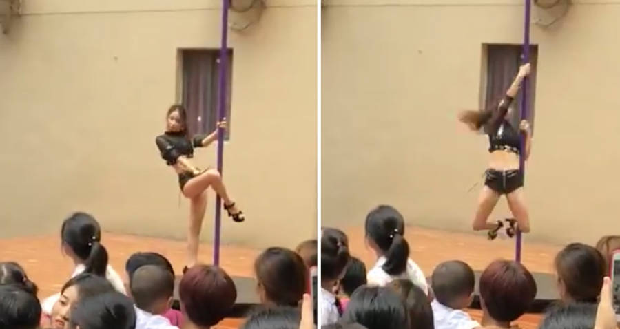 Chinese Kindergarten Pole Dance