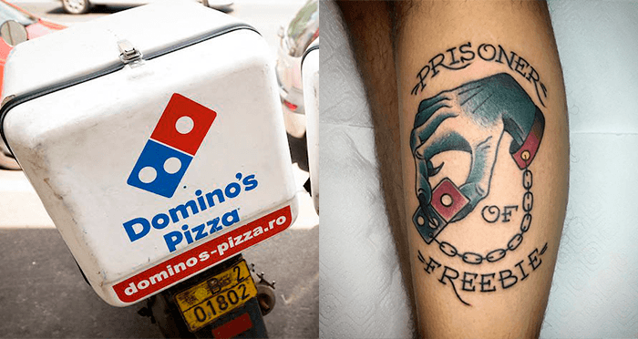 e41832a7cfead5 Domino s Promises Pizza For Life To Anyone Who Gets Logo Tattooed