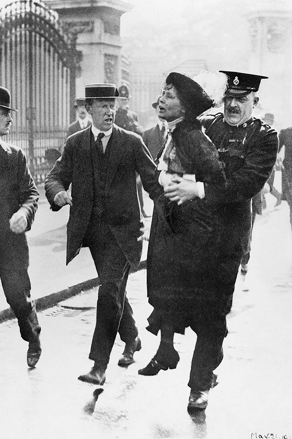 Emmeline Pankhurst Gets Arrested