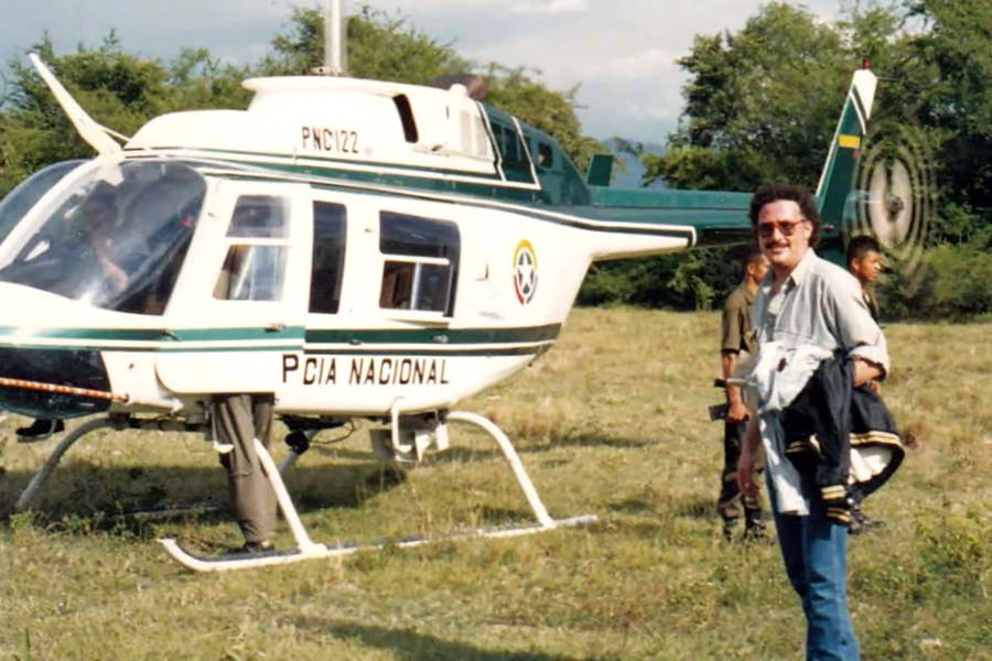 Javi Pena With Helicopter