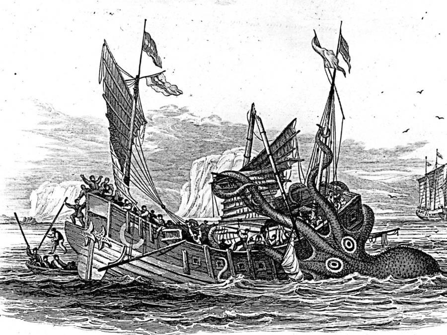 Kraken Gripping Boat