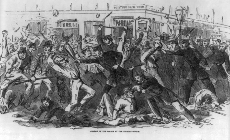 Riots In New York 1863