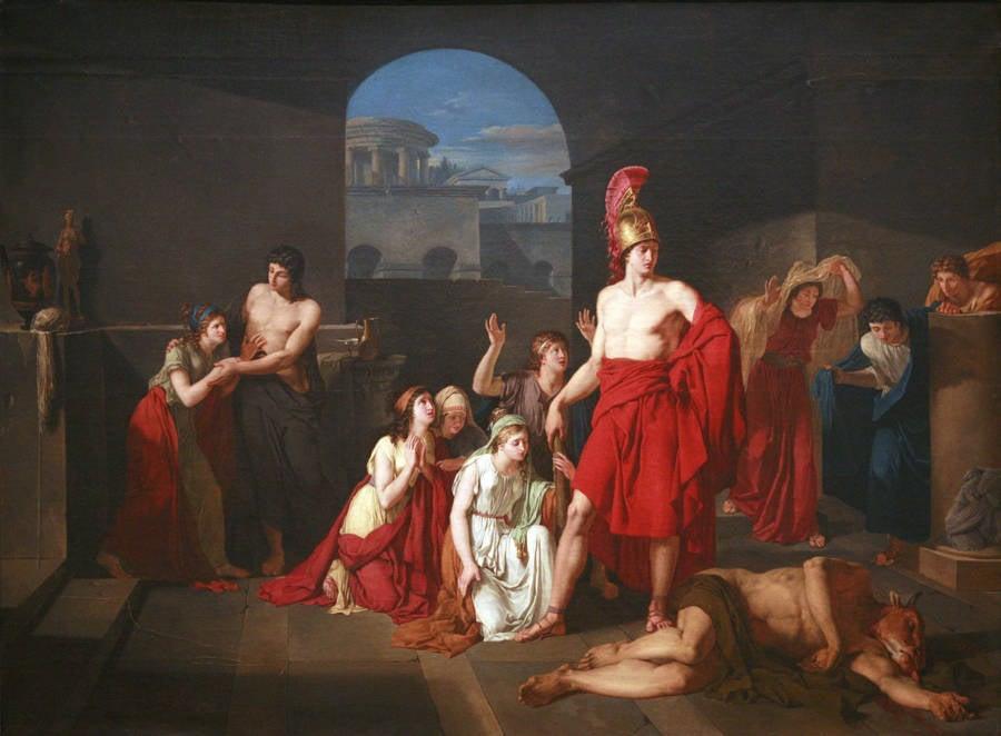 Theseus Slays Minotaur