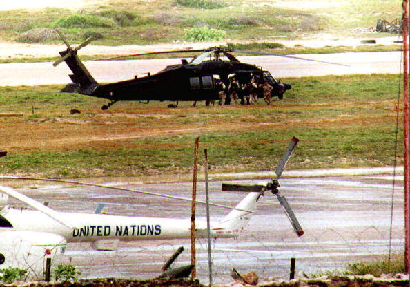 Troops Board Black Hawk