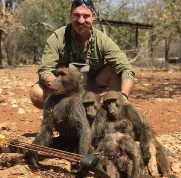 Blake Fischer With Dead Baboons