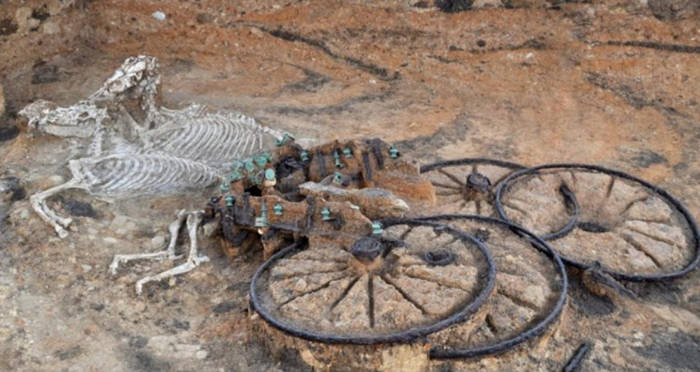 An Iron Age Chariot With Horse And Rider In Tow Was Discovered In England