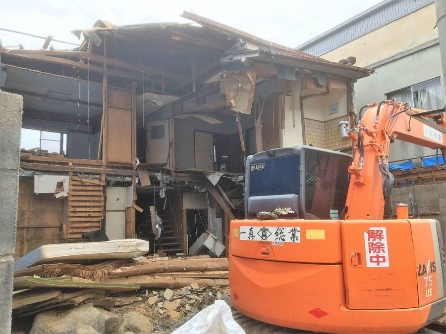 Demolition Work In Japan