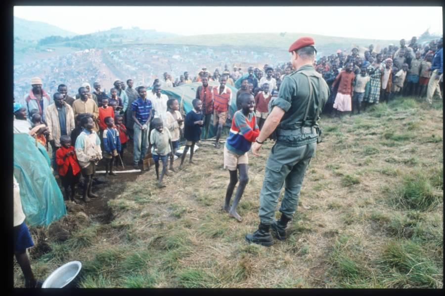 French Soldier In Rwanda