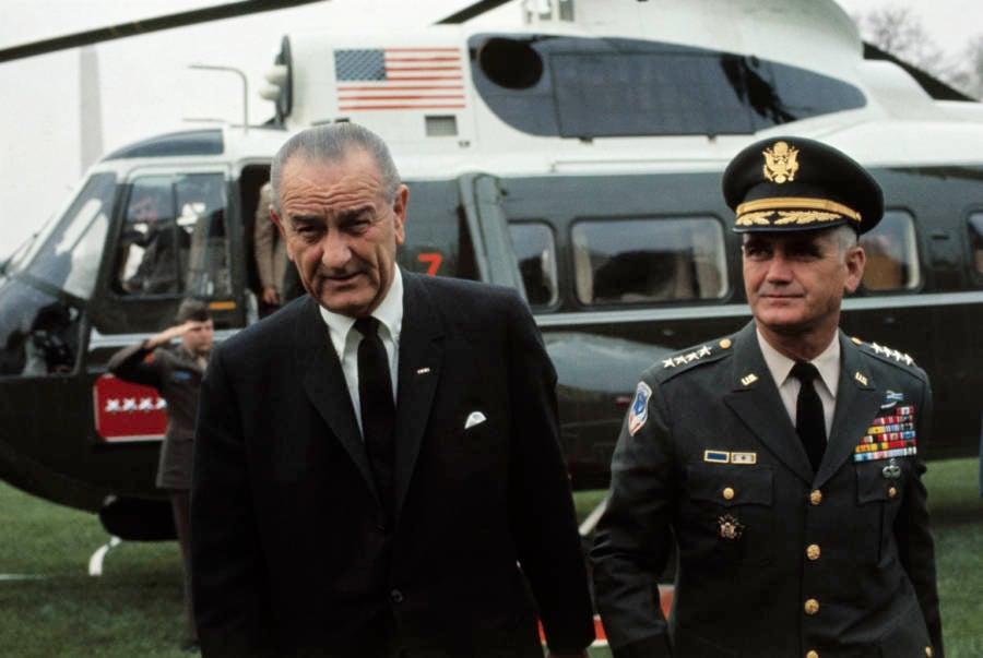 Lyndon Johnson And William Westmoreland