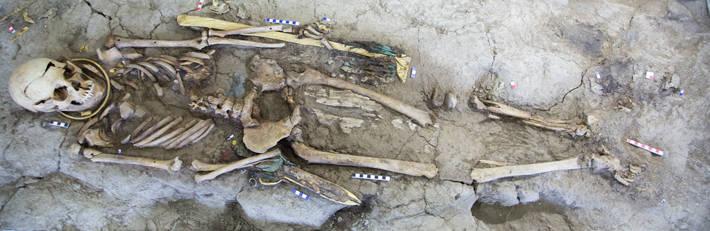 Man Kazakhstan Iron Age Burial