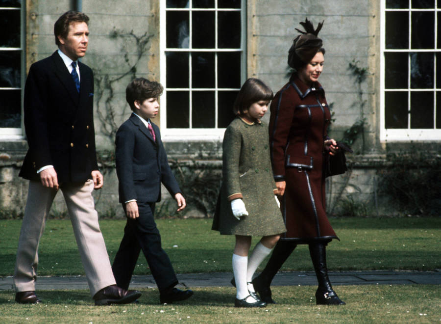 Lord Snowdon With His Family