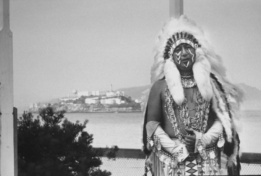 Native American Man Near Alcatraz