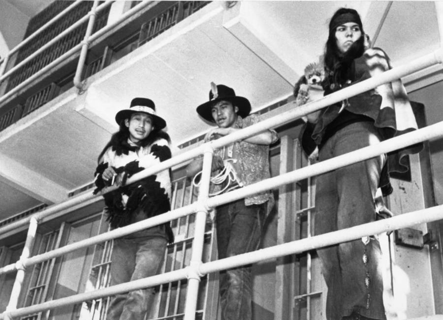 Native Americans Inside Alcatraz