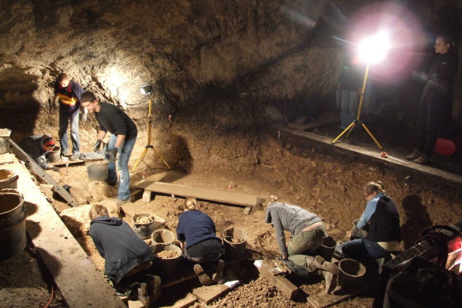Researchers Digging In Ciemna Cave