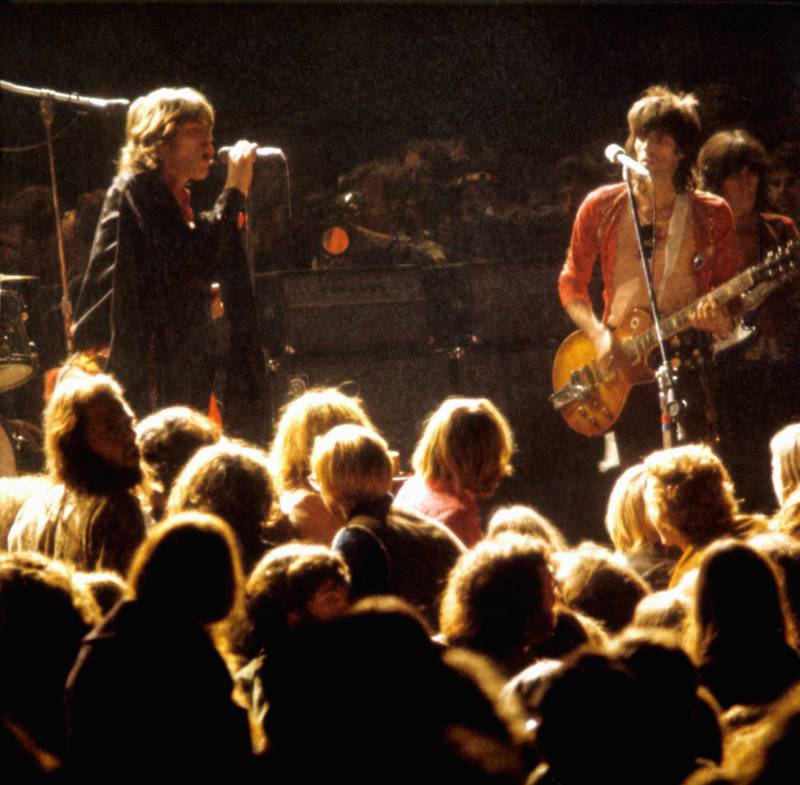 Mick Jagger Performs At The Altamont Speedway