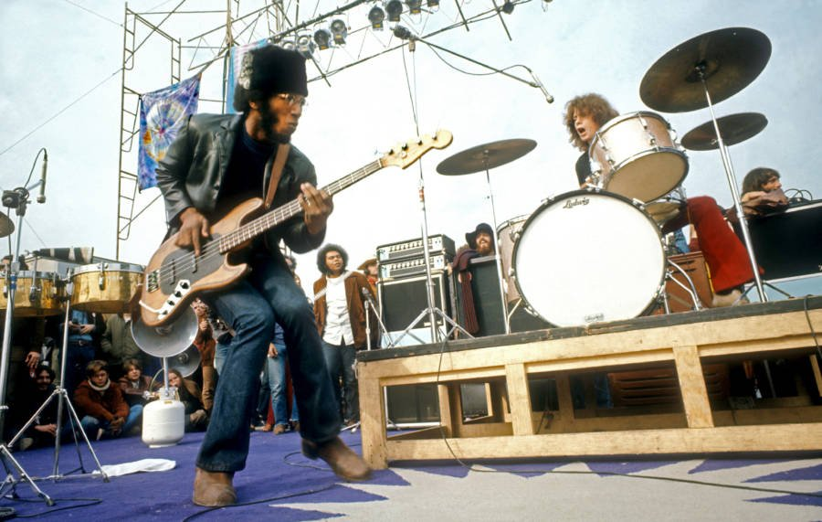 Santana Performs Onstage