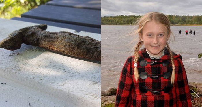 8-Year-Old Girl Pulls 1,500-Year-Old Sword Out Of Swedish Lake