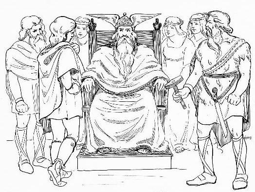 Norse Gods Thor Loki And Odin